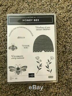 Stampin' Up! Honey Bee Stamp Set, Detailed Bee Dies, & Golden Honey DSP NEW