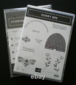 Stampin Up! Honey Bee Stamp SetDetailed Bee DiesGolden DSP Paper 12x12 Bundle