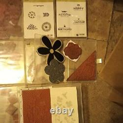 Stampin' Up! Huge Lot 31 sets with Multiple embossing dies 2 new scrapbooks & More