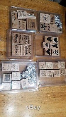 Stampin' Up! Huge Lot Of Assorted Stamp Sets Stamping Stamps 40 Different Packs