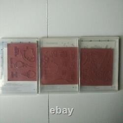 Stampin Up Huge Lot of 36 NEW Cling & Clear Stamp Sets Retired Many Hard to Find