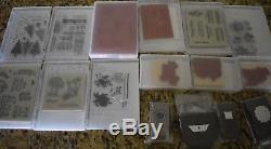 Stampin' Up Huge Lot of 43 Stamp Sets and 4 NEW in package Punches
