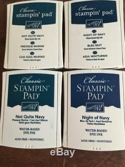 Stampin Up INK PADS! Set of 48 pads! Some new in plasticFREE SHIPPING