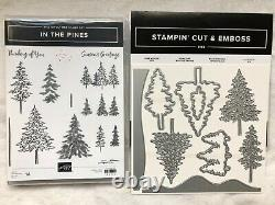 Stampin Up! In the Pines-photopolymer stamp set & Pine Woods Dies-NEW