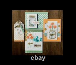 Stampin Up JAR OF LOVE & CHEER 2 Stamp sets, EVERYDAY DIES Bundle Mason Floral