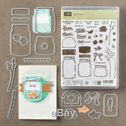 Stampin' Up! Jar of Love Photopolymer Stamp Set + coordinating dies bundle BNIP