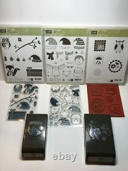 Stampin' Up! Jolly Friends, Cozy Critters, Punch Bunch Stamp Sets & 2 Punches