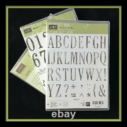 Stampin' Up! LETTERS FOR YOU Stamps, NUMBER OF YEARS & BOTH sets of DIES