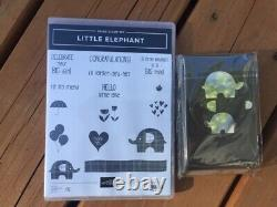 Stampin Up LITTLE ELEPHANT stamp set and matching punch NEW balloon Umbrella