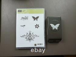 Stampin' Up! LOT of 13 BUTTERFLY THEMED stamp sets, dies and punches
