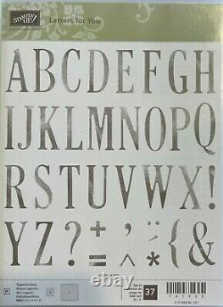 Stampin' Up! Large Letters and Large Numbers Dies and Letters for You Stamp Set