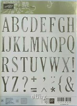 Stampin' Up! Large Letters and Large Numbers and Letters for You Stamp Set