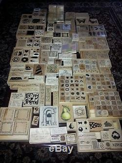 Stampin Up Large Lot Stamps Sets All Occasions Many Unused / Retired sayings EUC