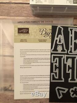 Stampin Up Letters For You Photopolymer & Large Letters Dies LOT Bundle Huge Set