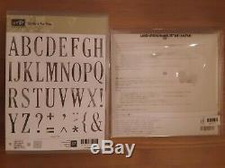 Stampin Up Letters For You Stamp Set & Large Letters Framelits Dies