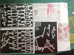 Stampin Up Lined Alphabet Stamp Set & Layering Alphabet Edgelit Dies