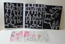 Stampin Up Lined Alphabet set & Matching Layering Alphabet Edgelits Dies Bundle