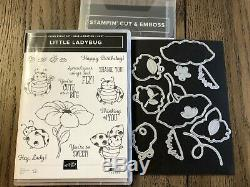 Stampin' Up Little Ladybug Stamp Set & Ladybugs Dies Bundle- NIP, Rare