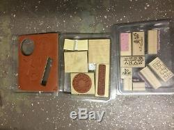 Stampin Up! Lot/15 Sets Rubber Wood Mounted 98 Stamps Angels, Mother's, Random