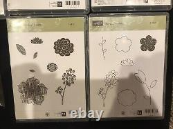 Stampin' Up Lot-18 Stamp Sets, Mixed Themes, Rubber Clear Mount & Photopolymer