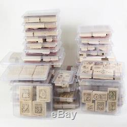 Stampin' Up Lot 263 Stamps, Complete Sets Many Unmounted, Retired