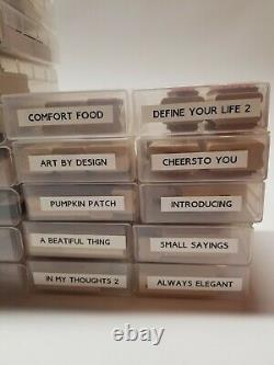 Stampin Up! Lot Of 37 Sets Wooden Rubber Stamps Mostly Unused Some Discontinued
