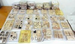 Stampin' Up! Lot Of 51 Sets 400+ Wood Mount Rubber Stamps Many Retired Vintage