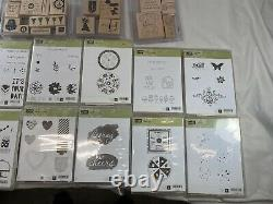 Stampin' Up! Lot Stamp Sets Plus 14 Cases Most New ALL Nice