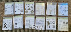 Stampin Up Lot of 11 Stamp Sets-Retired 2019 catalog