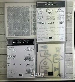 Stampin Up Lot of 12 Stamp Sets 2 with dies NEWLY RETIRED