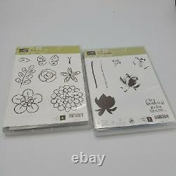 Stampin Up Lot of 15 Stamps Sets Some Rare Retired