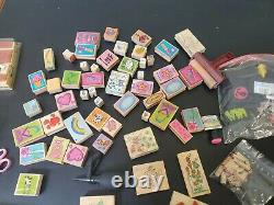 Stampin Up Lot of 17 Stamp Sets (some unused) + other stamps and supplies