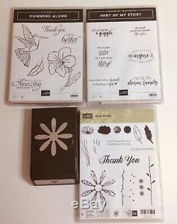 Stampin Up Lot of 21 Stamp Sets Photopolymer & Rubber New & Used plus Punches