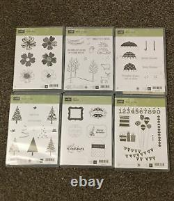 Stampin' Up! Lot of 24 Stamp Sets Most New And Unused Christmas Halloween