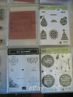Stampin' Up! Lot of 34 Mount Stamp Sets Flowers Butterflies Thoughts Vintage