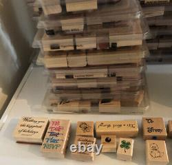 Stampin Up Lot of 56 Sets Extras 528 Stamps Many NEW