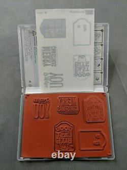 Stampin Up! Merry Everything Holiday Tag Stamp Set -Retired- Holiday Halloween