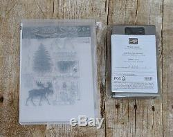 Stampin' Up! Merry Moose Stamp Set & Punch Bundle NEW Retired NLA FREE SHIP