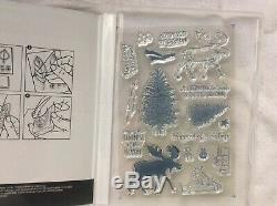 Stampin Up! Merry Moose-photopolymer stamp set & Moose Punch-NEW