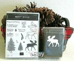 Stampin Up! Merry Moose stamp set & Moose Punch NEW SOLD OUT