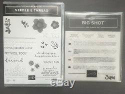 Stampin Up! NEEDLE & THREAD Stamp Set & NEEDLEPOINT ELEMENTS Framelits Dies NEW