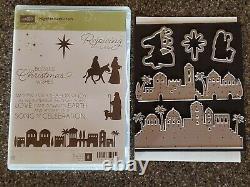 Stampin Up NIGHT IN BETHLEHEM Stamp Set & BETHLEHEM Edgelits Dies-New