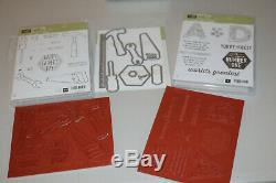 Stampin' Up! Nailed It & Urban District Stamp Sets & Framelits Bundle Masculine
