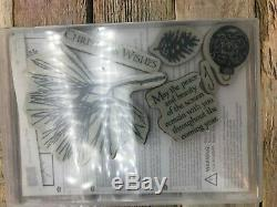 Stampin Up ORNAMENTAL PINE, Retired & RARE Christmas / Winter Stamp Set