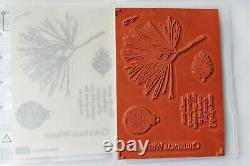 Stampin Up Ornamental Pine set of 6 Pinecone, Ornament, Peace & Beauty