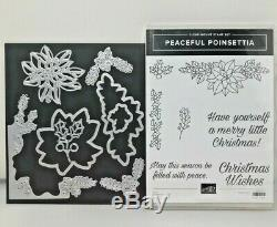 Stampin Up! PEACEFUL POINSETTIA Stamp Set & DETAILED POINSETTIA Thinlits Dies