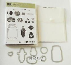Stampin Up Perfectly Perserved (14) Clear Mount Stamps & Cannery Framelits Set