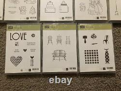 Stampin Up Photo Polymer Rubber Stamp Lot Of 13 Sets Used