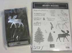 Stampin' Up! Photopolymer Stamp Set Merry Moose Punch Bundle Christmas Lot