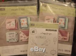 Stampin Up Project Kits X 2, Color Me Happy, Plus Used Colour Me Happy Stamp Set